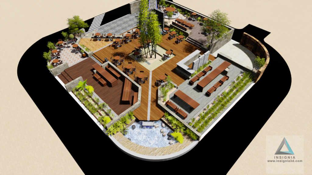 Hotel Naz Garden Outdoor Restaurant Insignia Studio